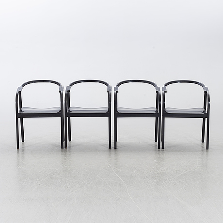 Four chairs, second half of the 20th century.