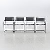 Four chairs, second half of the 20th century, likely italy.