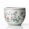 A famille rose flower pot, qing dynasty, circa 1900.