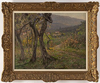 ANSHELM SCHULTZBERG,  oil on canvas, signed and dated Contes 26/11-1930.