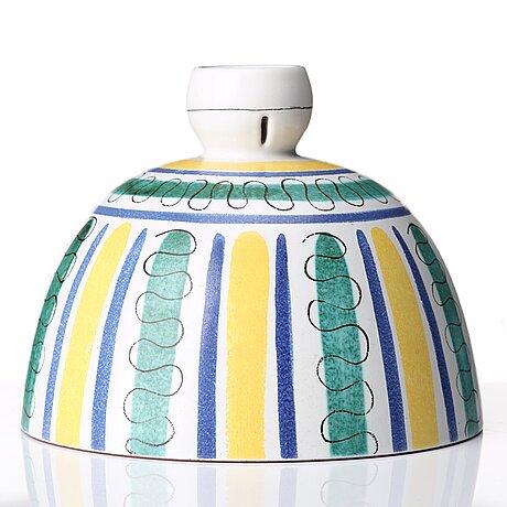 Wilhelm kÅge, a faience cup, gustavsberg studio, sweden 1940-50's, provenance wilhelm kåge.