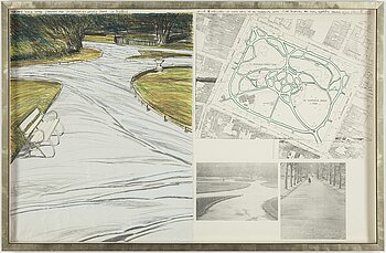 CHRISTO & JEANNE-CLAUDE, lithograph in colours and mixed media on cardboard, 1983, signed and numbered 94/100.