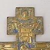 A brass crucifix from around year 1900.