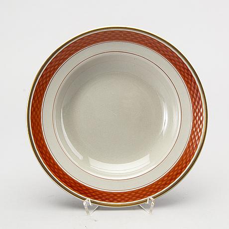 "A 58 part dinner service ""tureby"" from aluminia faience, denmark."