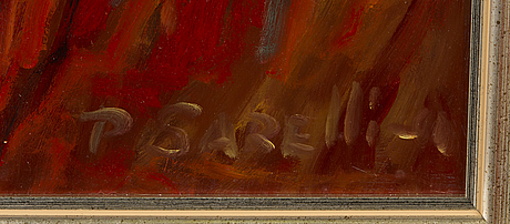 Paavo sarelli, oil on board, signed and dated -01.