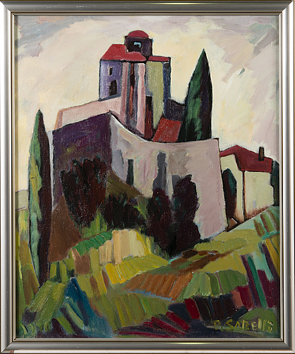 Paavo sarelli, oil on canvas board, signed and dated -85.
