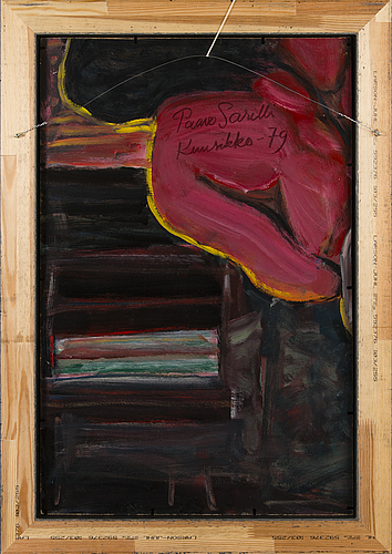 Paavo sarelli, oil on board, signed and dated -79.