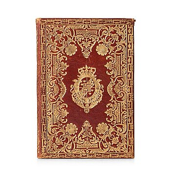 107. A presentation bookbinding for king Gustavus III 1784 from his Italian and French trip.