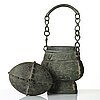 An archaistic bronze vessel with cover, presumably ming dynasty (1368-1644).