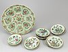 Dish and plates, 1+10, qing dynasty, late 19th century.