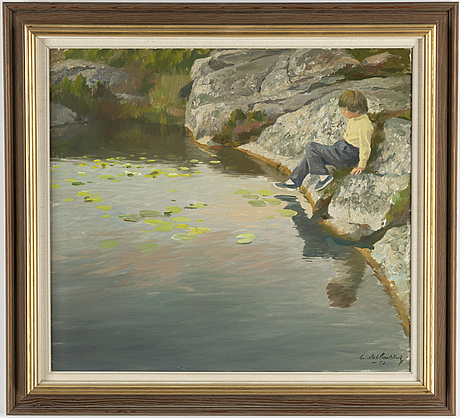 Gustaf carlstrÖm, oil on canvas, signed and dated -56.