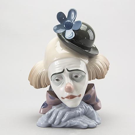 Figurin, lladro, glaserat stengods, 1900-talets senare del.