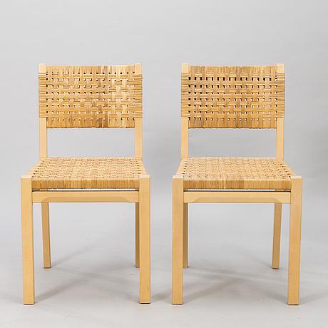 Aino aalto, a set of four late 20th-century '615' chairs artek.