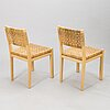 Aino aalto, a set of four late 20th-century '615' chairs artek.