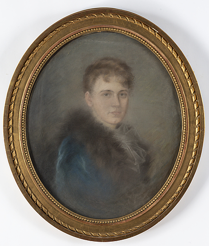 Fanny hjelm, attributed to, pastel.