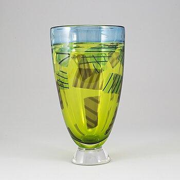 BENGT EDENFALK, a glass, vase, Kosta Boda, Sweden.