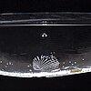 Bertil vallien, a glass boat from kosta boda, signed.