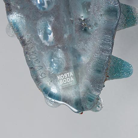 Bertil vallien, a unique sand cast glass sculpture, kosta boda, sweden.