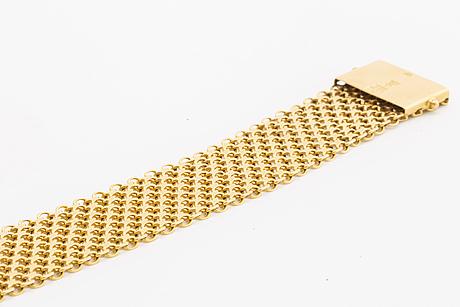 Bracelet 18k gold, 48,5 g, Ädelsmycken ab stockholm 1963.