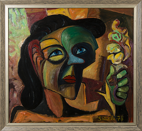 Paavo sarelli, oil on board, signed and dated -78.