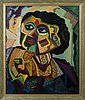Paavo sarelli, oil on board, signed and dated -81.