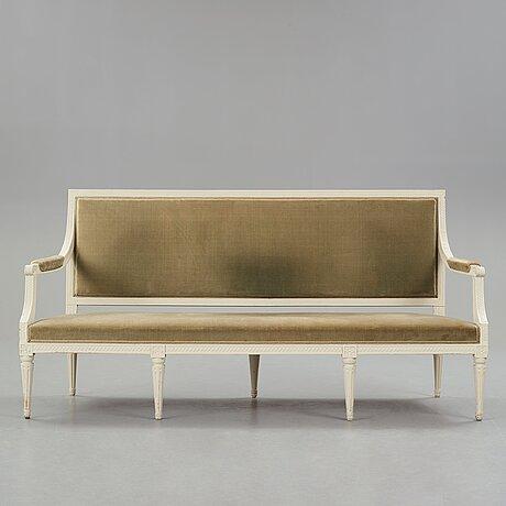 A gustavian sofa by johan lindgren (master in stockholm 1770-1800).