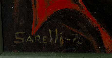 Paavo sarelli, oil on board, signed and dated -75.