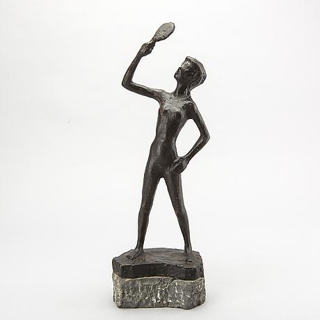 Axel olsson, sculpture bronze, signed.