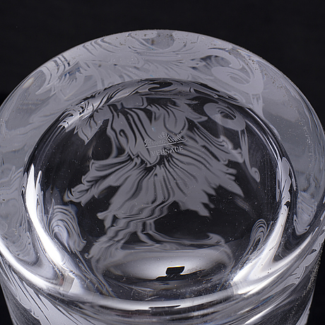 A glass vase 'arabesque' by versace for rosenthal, germany.
