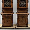 A pair of cupboards, late 19th century.