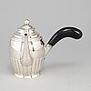Johan magnus corth, a silver coffee pot, nyköping 1846.