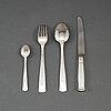 Jacob Ängman, 48 psc silver cutlery, 'rosenholm', gab, some stockholm 1967.
