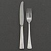 Gustaf jansson, 12+12 psc silver cutlery, 'diplomat' cg hallberg stockholm, some 1956.