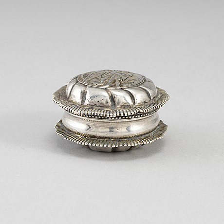 A silver snuff box, mark of jeremias wallbom, uddevalla 1786.