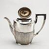 Cg hallberg, kaffeservis 3 delar stockholm, 1916, svenska importstämplar.