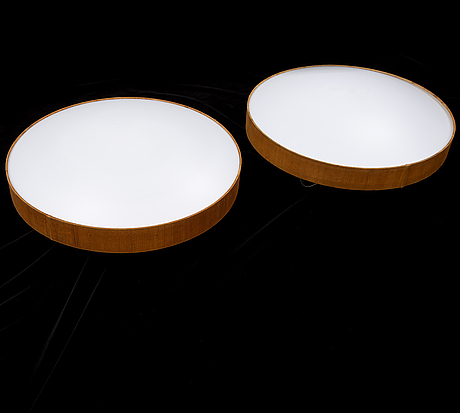 A pair of ceiling lights, luxus, second half of the 20th century.
