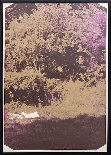 "An silkscreen by ola billgren ""då som nu"", signed, dated 69 and number 207/250."