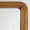 A swedish modern walnut mirror, 1930's/40's.