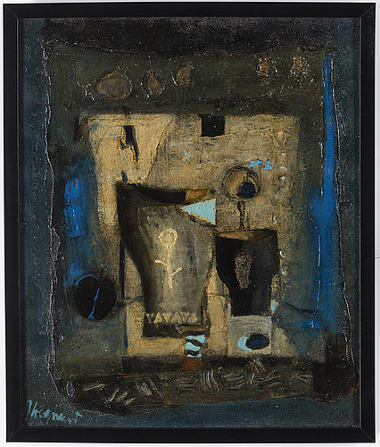 James coignard, oil oncanvas signed and dated 1961 on verso.