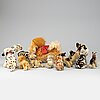 Steiff, a collection of 15 vintage plush animals, germany.