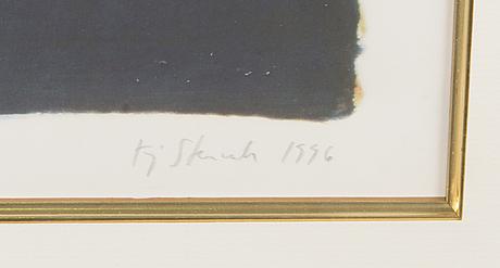 Kaj stenvall, litografia, signeerattu ja päivätty 1996, numeroitu 1996.