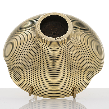 Paavo tynell, a polished brass bowl, oy taito ab, finland.