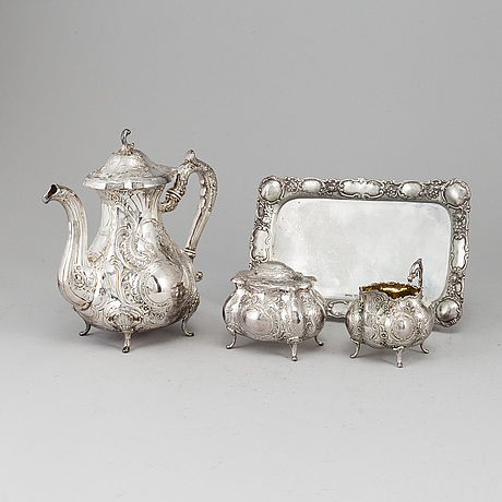 A four-piece silver coffee service from gewe, malmö, 1969 and 1977.