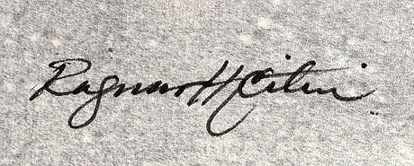 Roy friberg, färglitografi, signerad, 106/250.