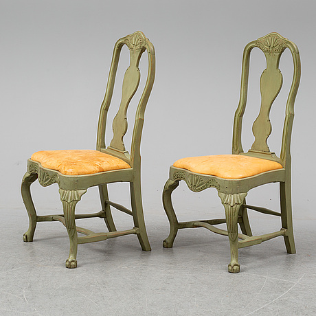 A pair of rococo armchairs, late 18th century.