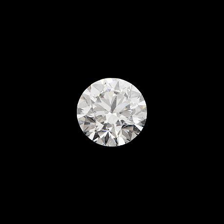 Brilliant-cut diamond, 0,65 ct with gia-report.
