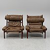 A pair of 'inca' easy chairs by arne norell.