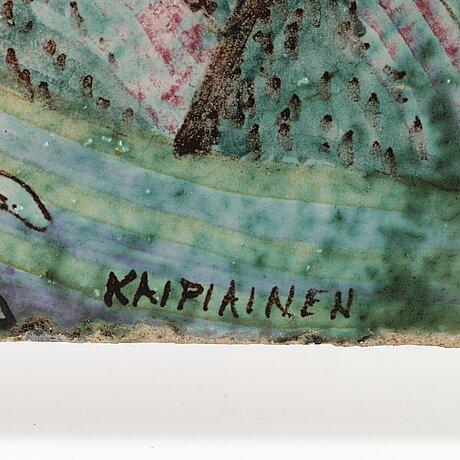 Birger kaipiainen, plakett, arabia, finland, sannolikt 1940-tal.