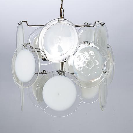 Gino vistosi, ceiling light, italien, 1960-/70's.