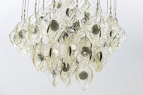 A ceiling light, italy, second half of the 20th century.